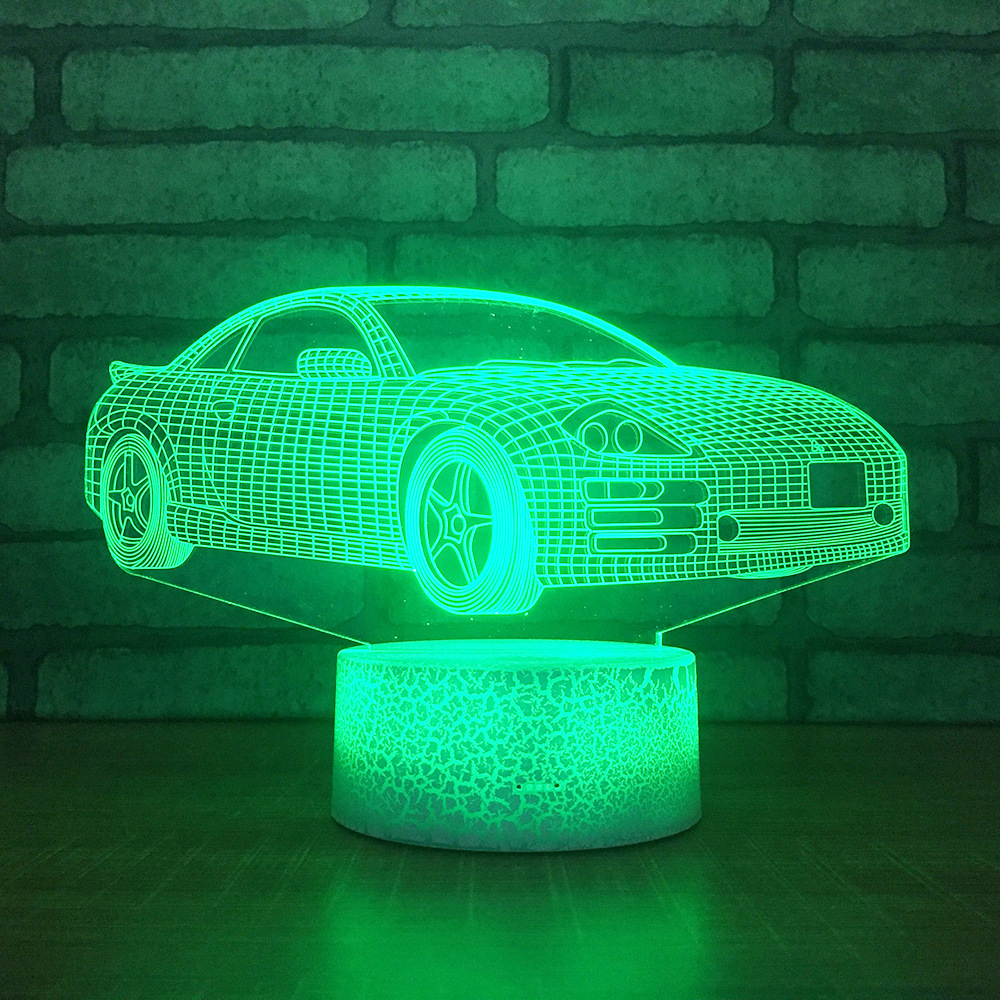 Adaptable Car Creative Product Acrylic 3d Table Lamp Bedroom Led Atmosphere Table Moderne Desk Lamp Christmas Decorations Gift For Baby Punctual Timing