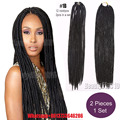 "Newest Soft dread  locs Collection 2X Havana Mambo Twist Dread Faux Locs Braids Crochet Hair 18"" dread faux locs braids 3packs"