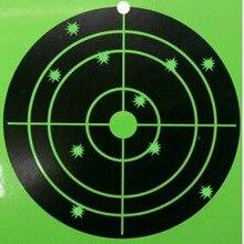 100 pcs 8 Silhouette Splatter shooting Target gun target-Instantly See Your Bright Florescent green Shots Burst