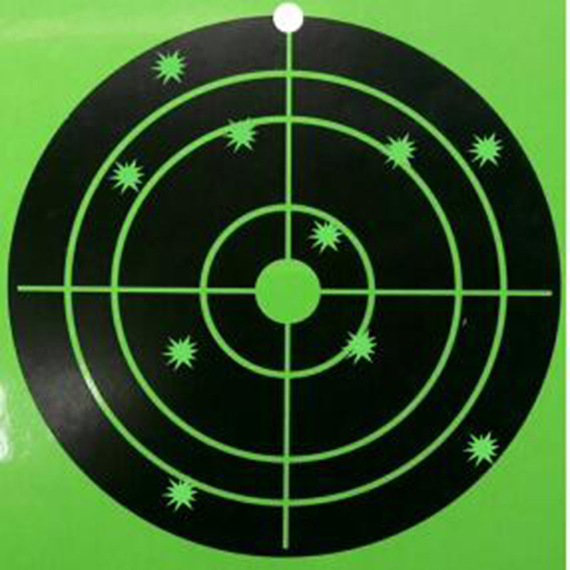 120 pcs 8 Silhouette Splatter shooting Target gun shooting target-Instantly See Your Bright Florescent green Shots Burst ...