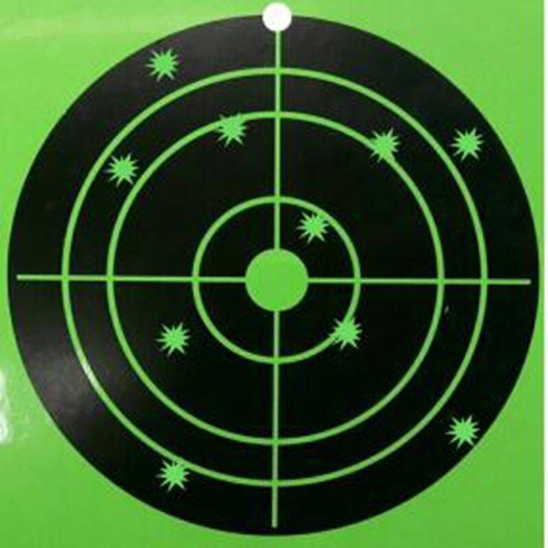 120 Pcs 8 Silhouette Splatter Shooting Target Gun Shooting Target Instantly See Your Bright