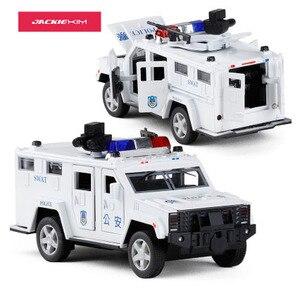 Image 4 - 1:32 משטרת SWAT נגד חטיפה משוריין רכב משאית סגסוגת רכב דגם עם מוסיקלי מהבהב למשוך בחזרה עבור תינוק צעצוע משלוח חינם