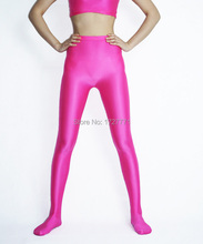 (LS3003)Shiny Lycra Spandex Opaque Tights Unisex original Fetish Zentai Leggings Pants
