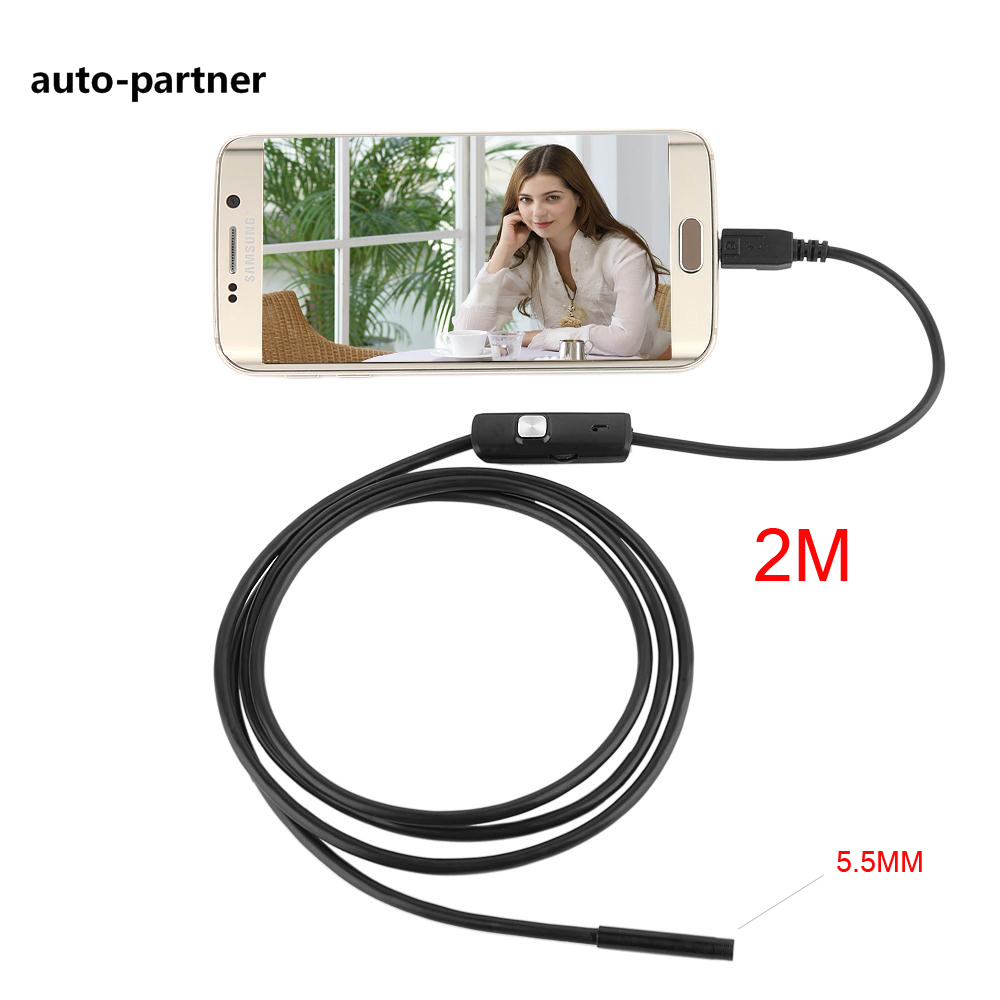 2M 5.5mm mini Android USB Endoscope Camera IP67 Waterproof Snake Tube inspection Android OTG USB Borescope Camera