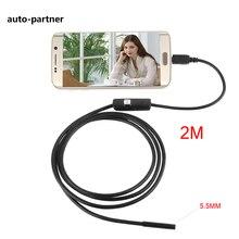 2 М 5.5 мм mini USB Камера-Эндоскоп IP67 Водонепроницаемый Змея Труба инспекции Android OTG USB Бороскоп Камеры