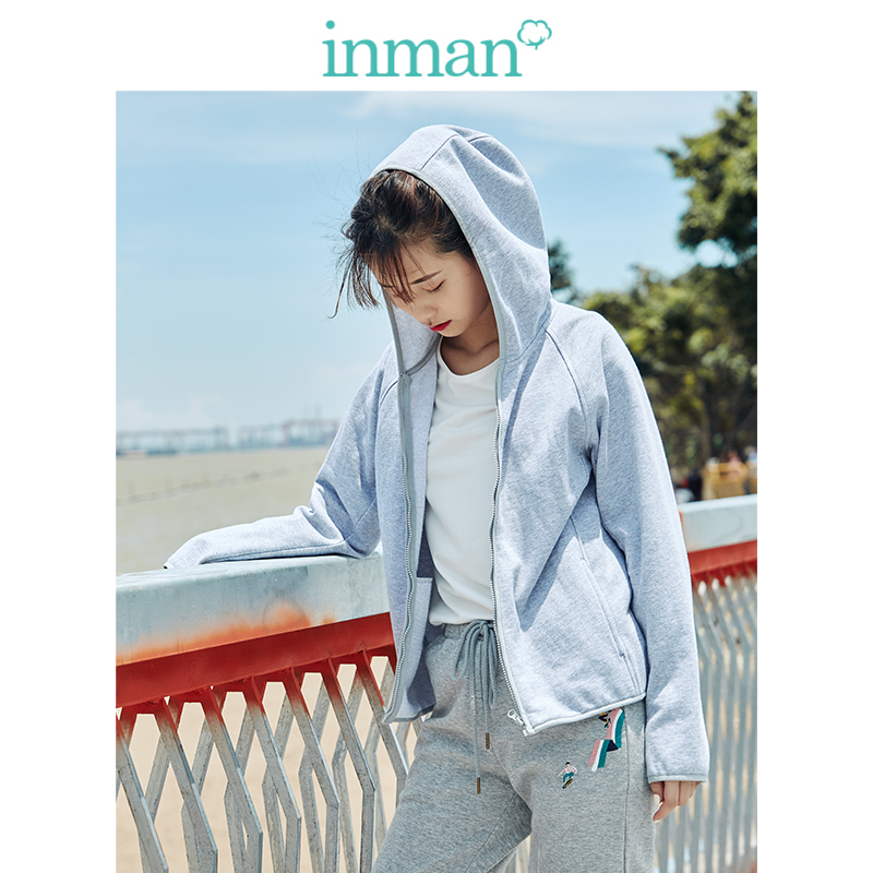 INMAN Spring Autumn Cotton Hoodie Casual All Matched Sport Fashion Women Jacket