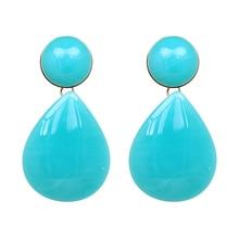AOTEMAN 2018 ZA New Teardrop earrings with metallic finish in back Women Brand Water Drop Statement Earrings Accessories Bijoux