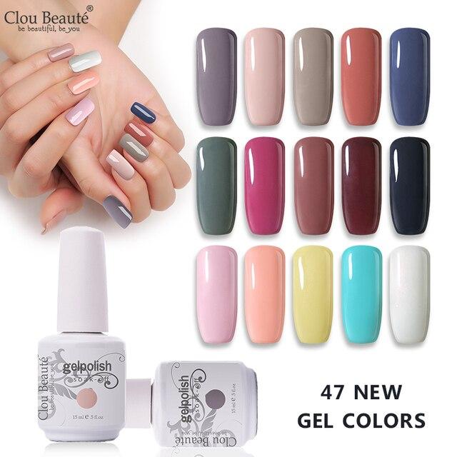 Clou Beaute Base Top Coat 15ml Gel Polish Semi Permanent UV Varnish Nail Polish Gel Soak Off Nail Art Glitter Gel Nail Polish