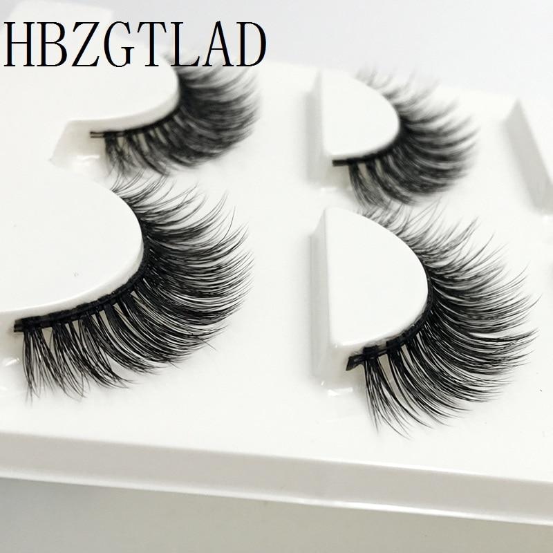New 3 Pairs mink eyelashes natural long false eyelashes 3d mink lashes makeup 3d eyelash extensions fake eye lashes maquiagem