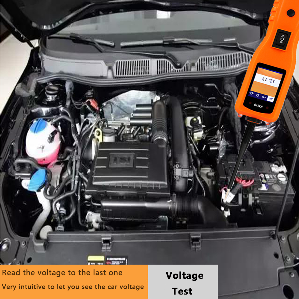 KM10 Automotive Probe Tester Circuit Polarity Check Continuity Test And Component Activation Read Voltage Current Resistance
