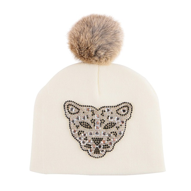 5971a86bae3 best quality baby fashion beanie designer leopard character style novelty girl  boy winter hats thermal pompom