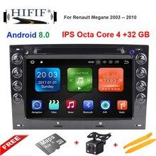 Ips 7 »4 GB Оперативная память Octa core Android 8,0 автомобильный dvd-радиоплеер для Renault Megane 2 ii 2006 2007 2008 2009 2010 с BT Wifi gps