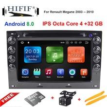 "IPS 7 ""4 GB di RAM Octa core Android 8.0 Car DVD Radio Player per Renault Megane 2 ii 2006 2007 2008 2009 2010 con BT Wifi GPS"