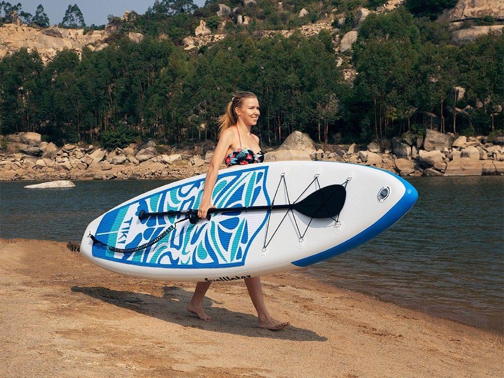 FunWater 320*84*15 cm inflable Paddle Junta Sup W/paleta Bolsa De Correa de la bolsa del teléfono - 5
