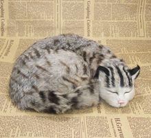 new simulation cat toy polyethylene & furs handicraft gray cat doll gift about 28x8x22cm
