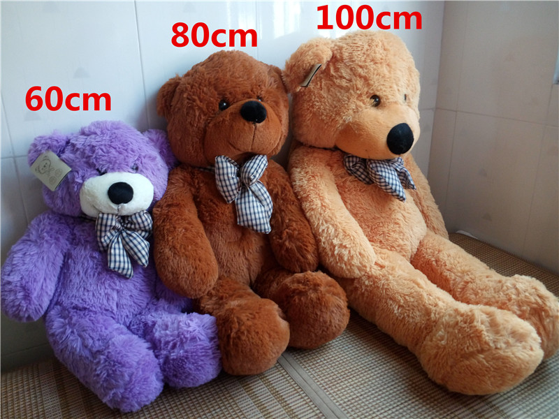 high quality big 60 80 100cm giant teddy bear plush toys stuffed teddy cheap pirce gifts for. Black Bedroom Furniture Sets. Home Design Ideas