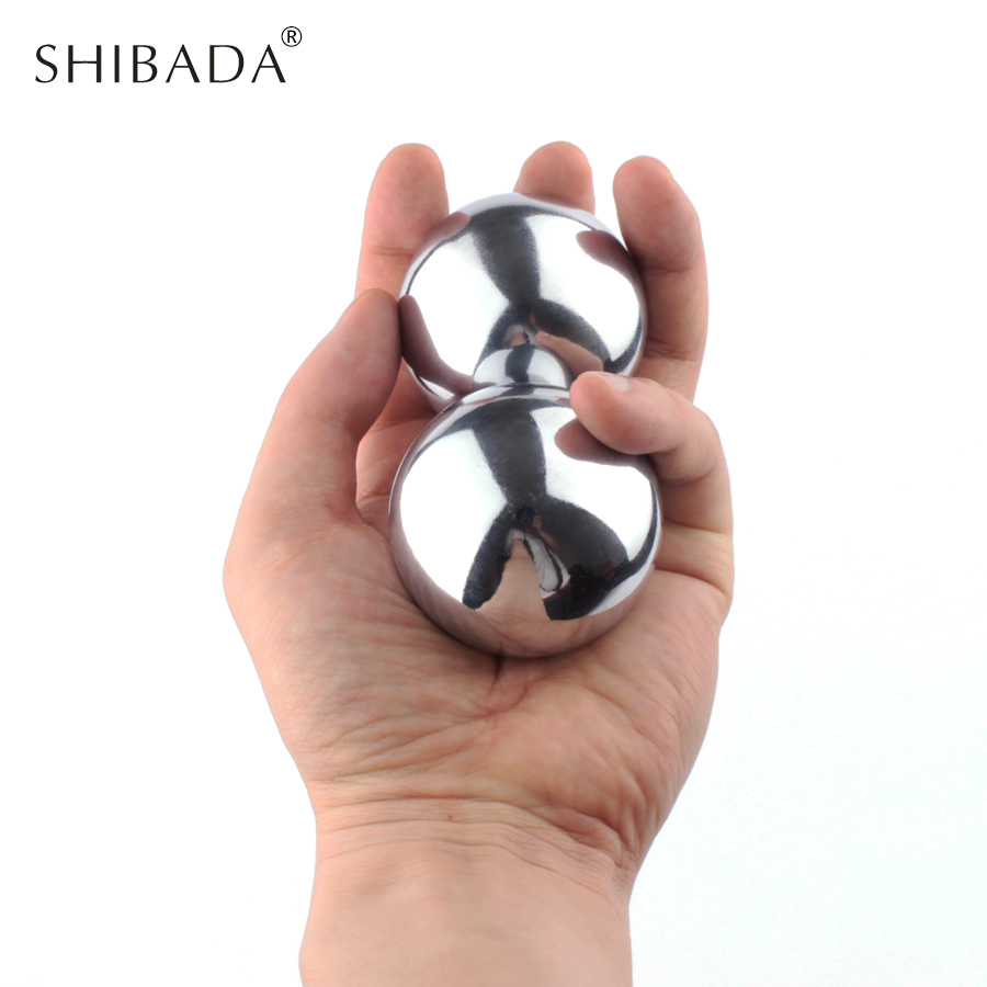 SHIBADA 2pcs 45mm Health Ball Hand Massa