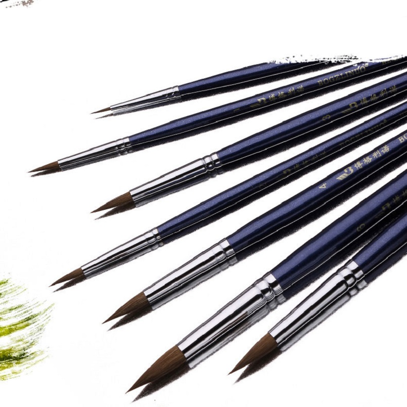 7pcs/set high quality fine weasel & horse mixed hair paint brush Watercolor Oil Acrylic paint brush art painting supplies7pcs/set high quality fine weasel & horse mixed hair paint brush Watercolor Oil Acrylic paint brush art painting supplies