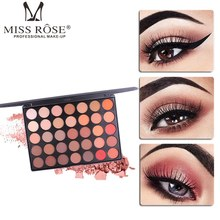 MISS ROSE 35 Color Eye Shadow Palette Shimmer Matte Eyeshadow Makeup Palette Natural Nude Shadow Women Beauty Eyes Cosmetic Kits miss rose 4 color gold pearl gloss matte shadow natural nude makeup earth color portable shadow tray beauty