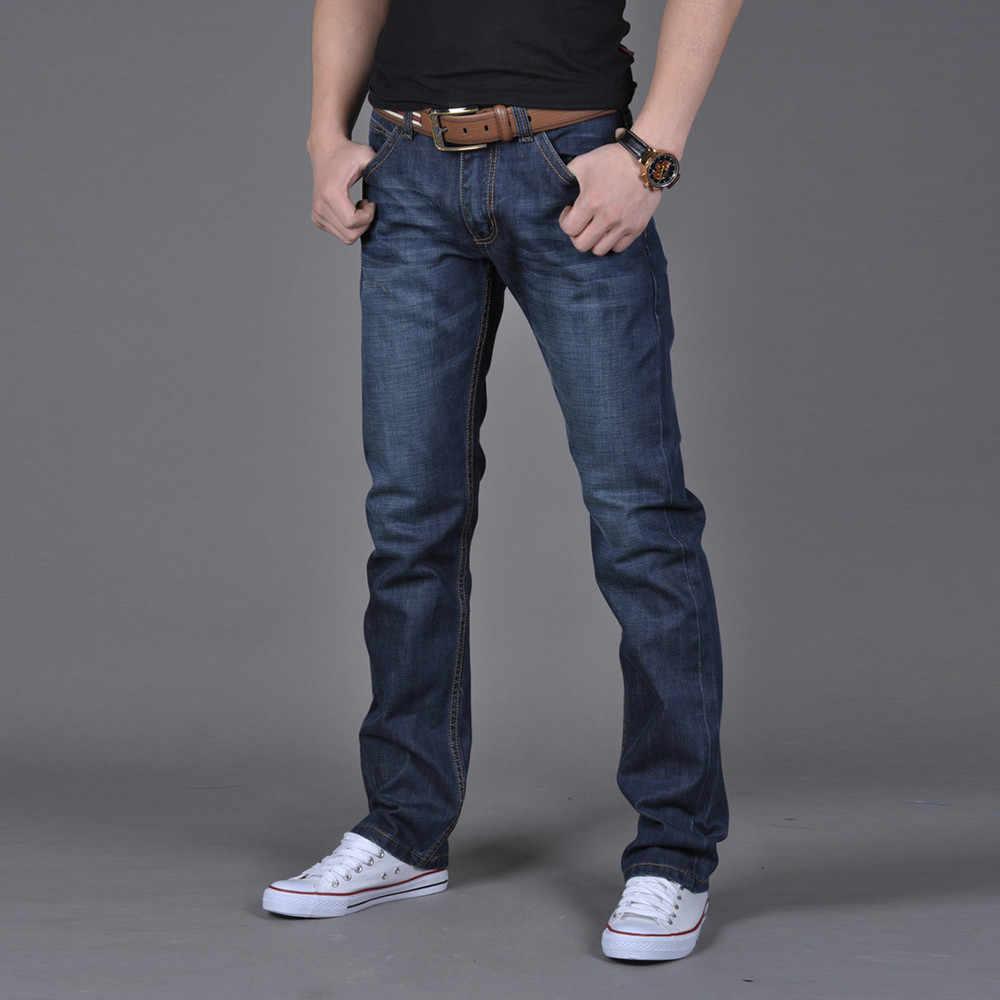 Mannen Denim Jeans Casual Herfst Winter Katoen Hip Hop Broek Mannelijke Losse Werk Lange Broek Jeans Broek Slim Fit Denim hoge Kwaliteit