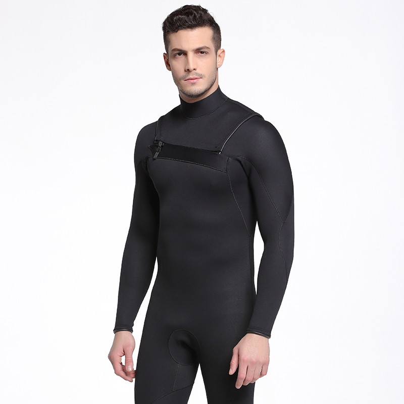 SBART Neoprene Wetsuit Men Winter Keep Warm Swimming Surfing Long Sleeve Scuba Diving Suit 3MM Thicker