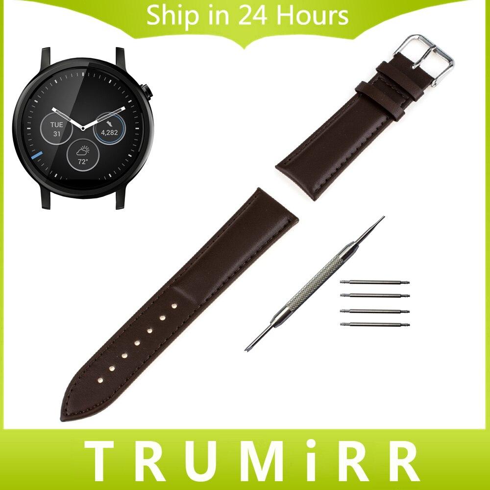 22mm Genuine Leather Watchband + Tool for Moto 360 2 46mm Samsung Gear 2 R380 Neo R381 Live R382 Watch Band Wrist Strap Bracelet cowhide genuine leather watch band 22mm for samsung gear 2 r380 r381 r382 quick release strap wrist belt bracelet