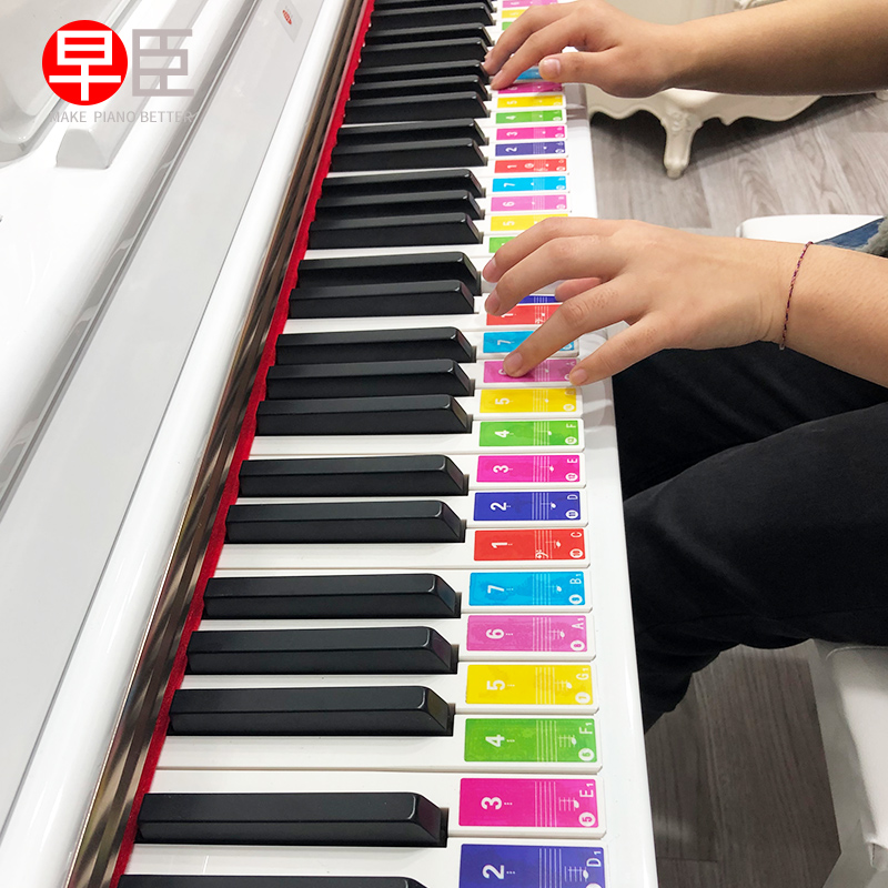 49 61 88 Keys Electronic Piano Keyboard Sound Name Stickers Key Sticker Piano Stave Music Decal Label Note Sticker