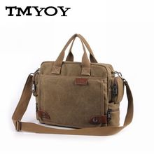 TMYOY 2016 new casual men's canvas shoulder bags with strap office bag men with cell pehone pocket men's messenger bag MW020