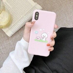 Image 2 - لطيف الحيوان زوجين حقيبة لهاتف أي فون X XS XS ماكس XR 6 6S 7 8 Plus لينة آيفون 7 غطاء واقي للشاشة الوردي غطاء الهاتف هدية