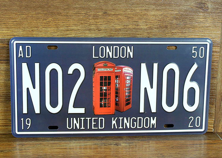 "sp cp 289 car number "" no2 no6 london "" license plates plate vintage"