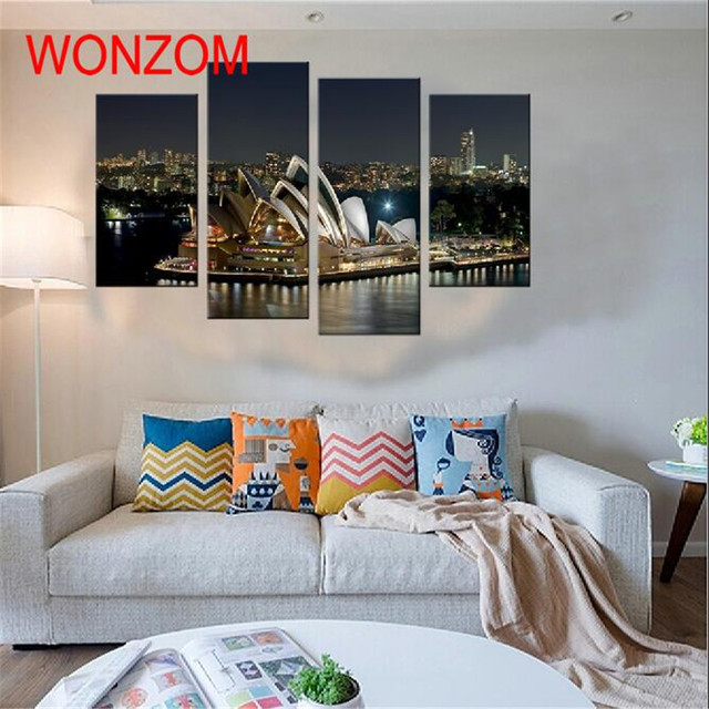 Cuadros Decoracion Canvas Printings Sydney Opera House Modern Schilderij Pictures For Living Room Wall Art Peinture Sur Toile