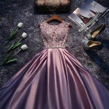 Nova chegada vermelho azul rosa roxo andar comprimento senhora menina feminino princesa dama de honra banquete festa vestido bola