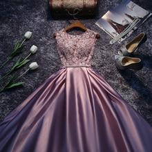 Vestido de fiesta rojo, azul, rosa, Morado, largo hasta el suelo, Princesa, dama de honor