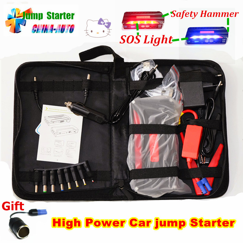 2018 New Hot Mini Portable Car Jump Starter High Power battery source pack charger vehicle engine booster emergency power bank 50800mah 12v portable car jump starter mini car battery engine starter booster emergency power bank battery source pack charger