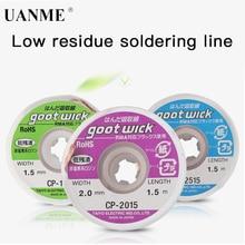 UANME Japan GOOT RoHS MSDS фитиль для распайки 1,5 м удаление припоя для ремонта PCB RMA прецизионная работа с флюсом без хлора