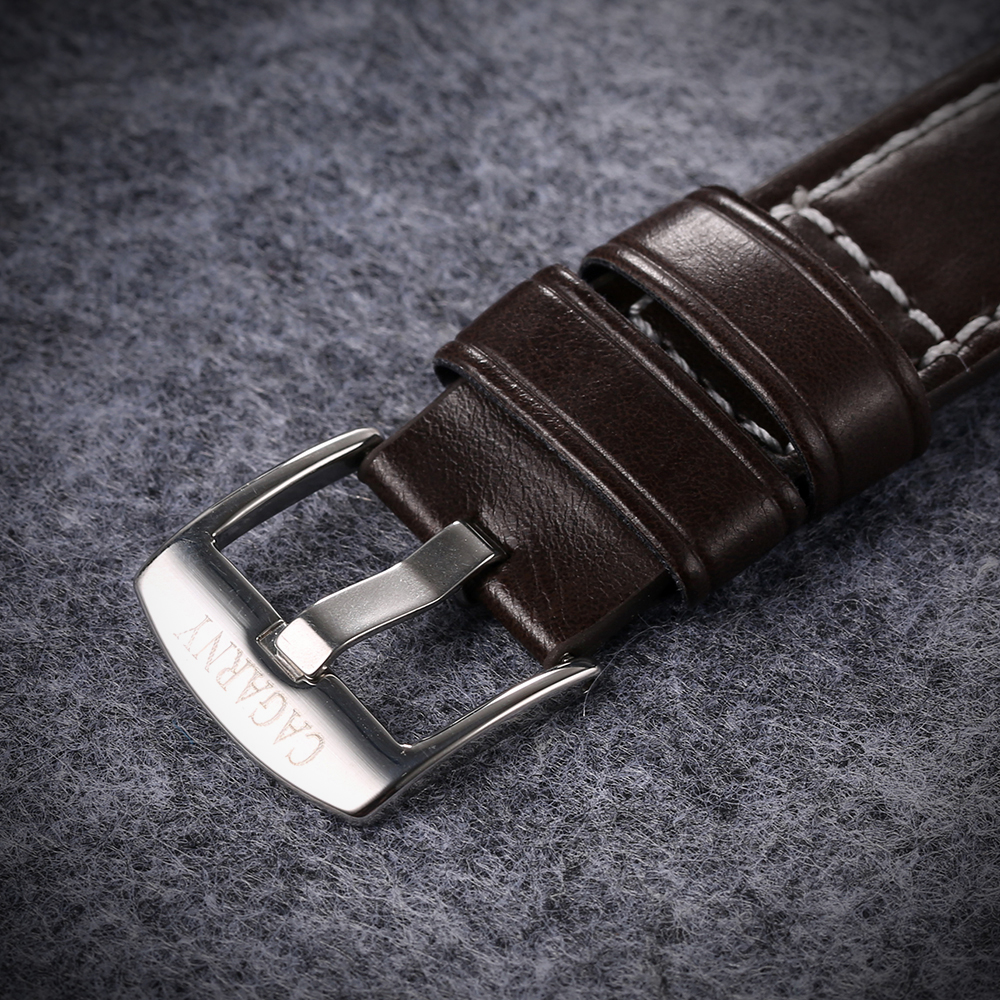 classic design high quality quartz watch men japaness movement genuine leather strap mens watches drop shipping (10)