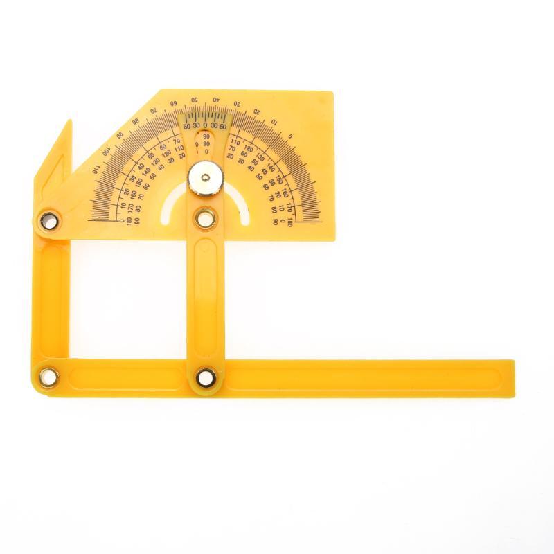 Aktiv Kunststoff Winkelmesser Winkel Lineal 180 Grad Folding Genaue Messung Werkzeuge Instrumente