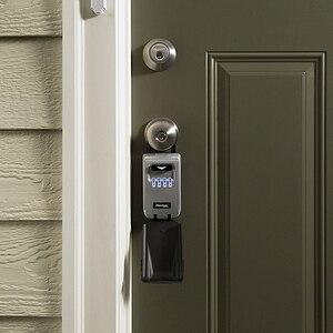Image 4 - Master Lock Outdoor Key Safe Box Keys Storage Box Padlock Use Light Up Dials Password Lock Keys Hook Security Organizer Boxes