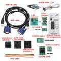 RT809F pantalla LCD programador ISP módulo con SOP8 pinza de prueba para 1,8 V adaptador TSSOP8/SSOP8 10 adaptadores
