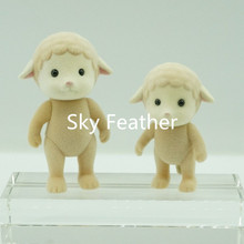 2pcs/pack Sheep without cloth Sylvanian Family original Figures Anime Cartoon figures dolls, Toys Child Toys gift