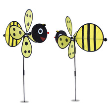 DIY bee  windmill 36*80cm    Classic Toys solids multicolors Wind Spinner Whirligig Garden Windmill plastic Toy