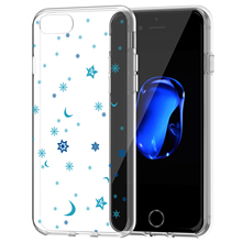 White Snowflakes Phone Case Clear For iPhone 7,8,7 Plus Christmas Gift, Winter Fashion Case Cover For iPhone 7 8 Plus