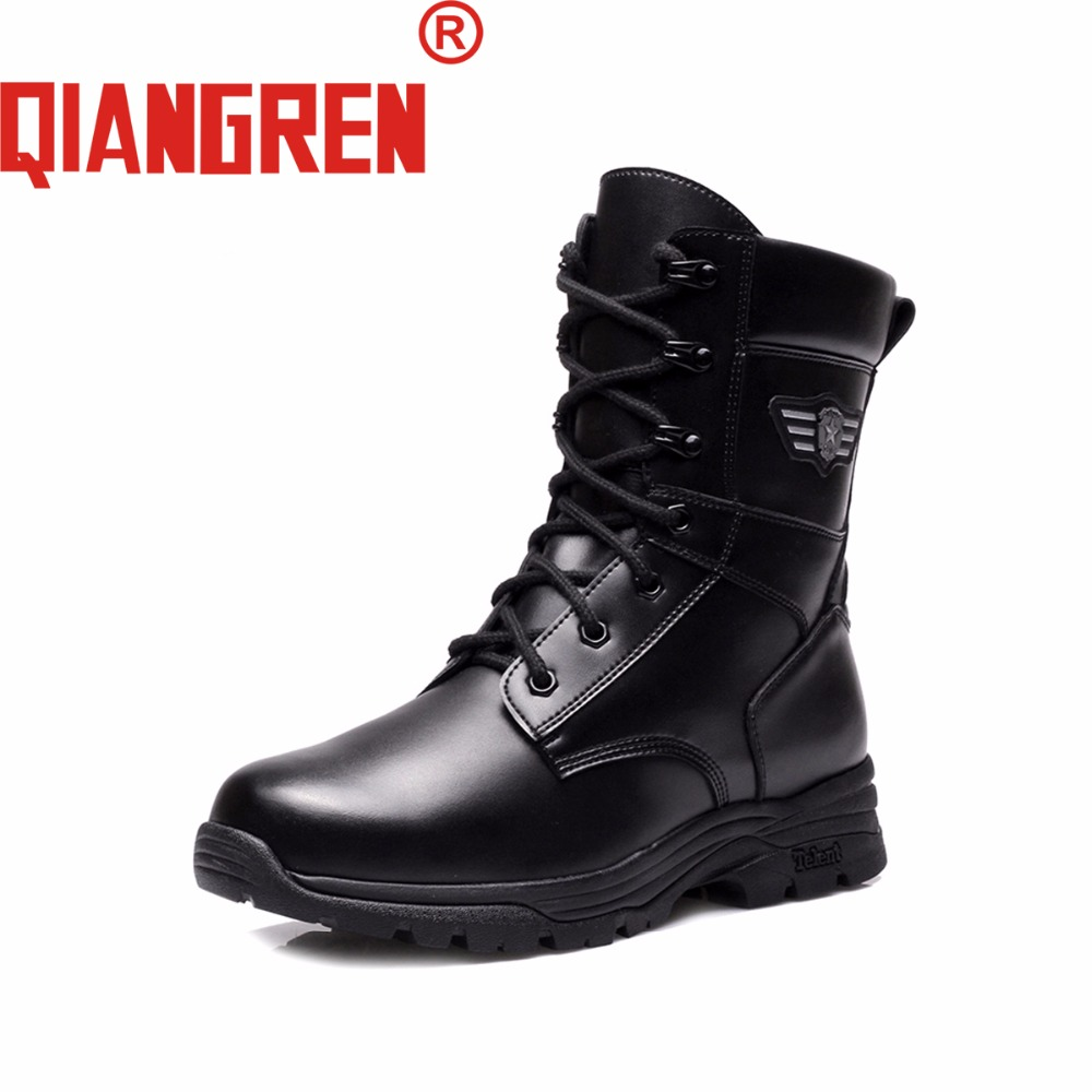 QIANGREN High Grade Quality Military Factory-direct Men's Winter Canvas Wool Rubber Outdoors Snow Tactical Boots Botas Militares new premium promotional yu europe d41x d341x flange rubber seal butterfly valves factory direct quality assurance