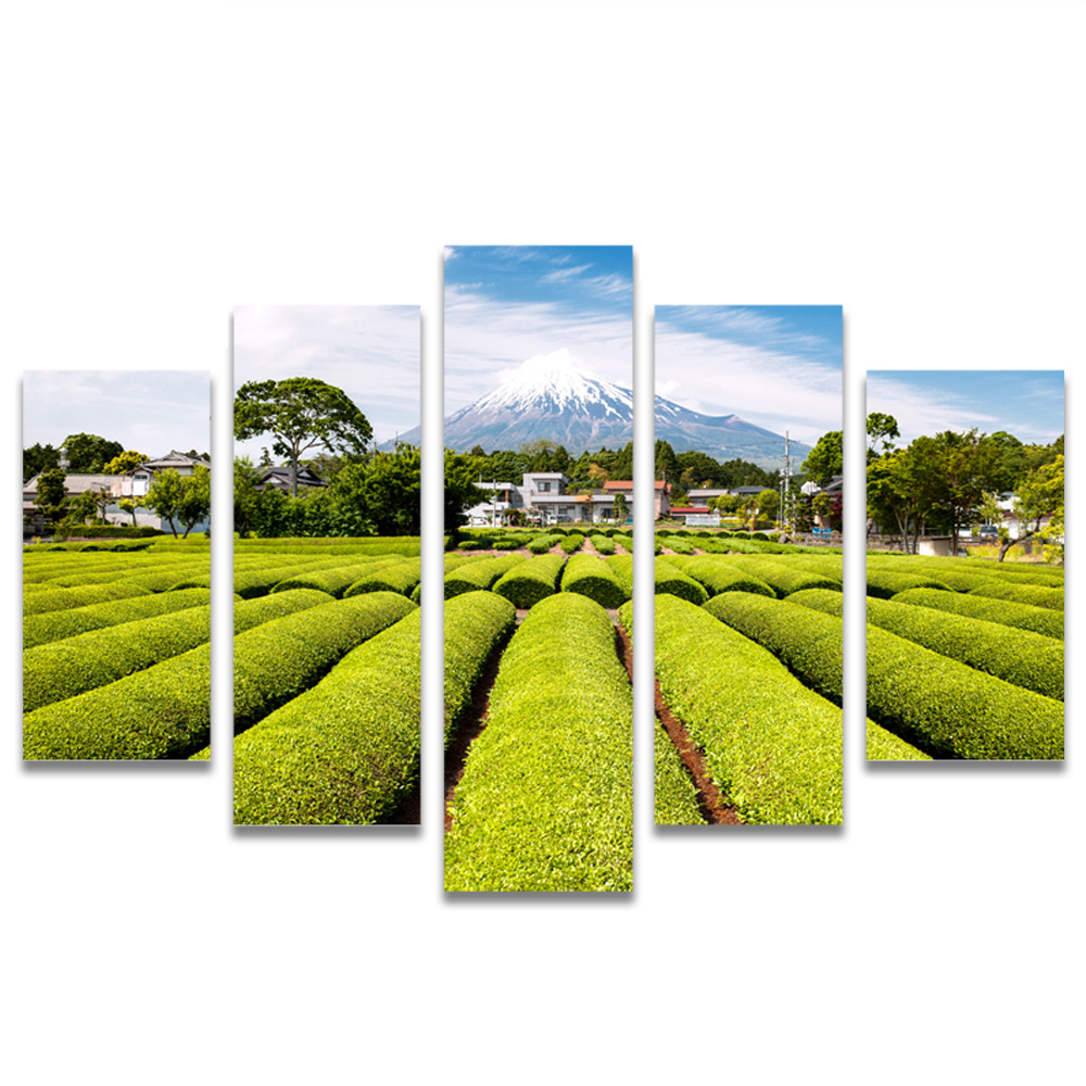 Unframed Canvas Painting Tea Garden Snow Mountain Photo Picture Prints Wall Picture For Living Room Wall Art Decoration