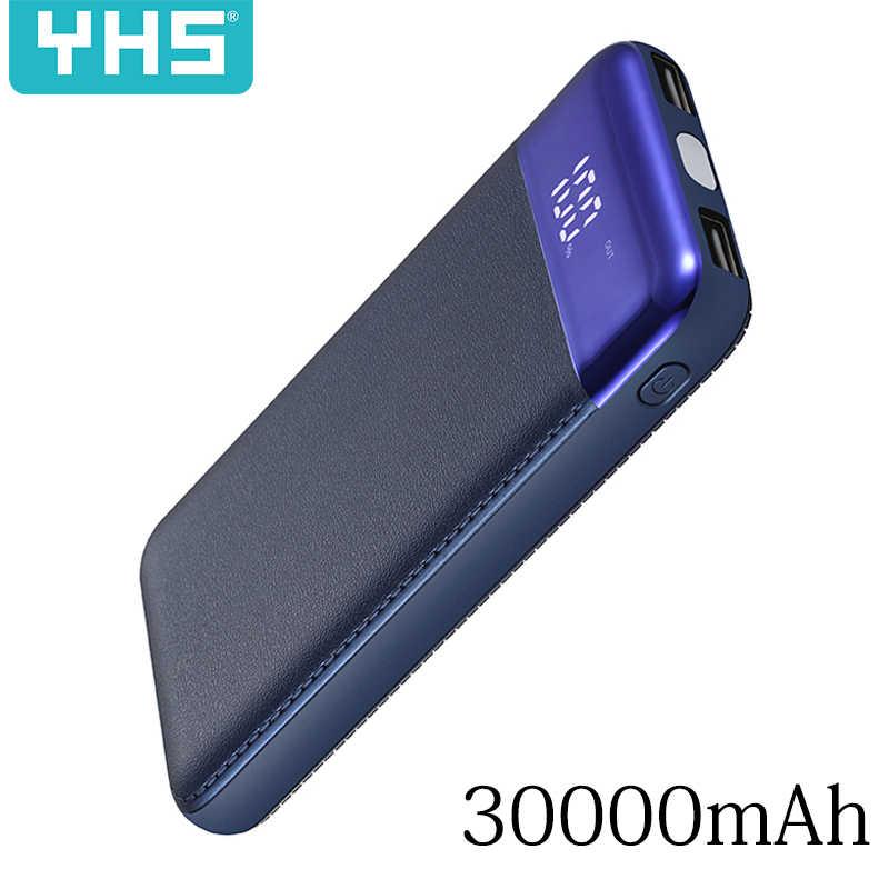 2019 جديد قوة البنك 30000 mAh ل شياو mi mi 2 USB شاحن محمول متنقل بطارية خارجية Poverbank ل فون 7 6X8 XS ماكس