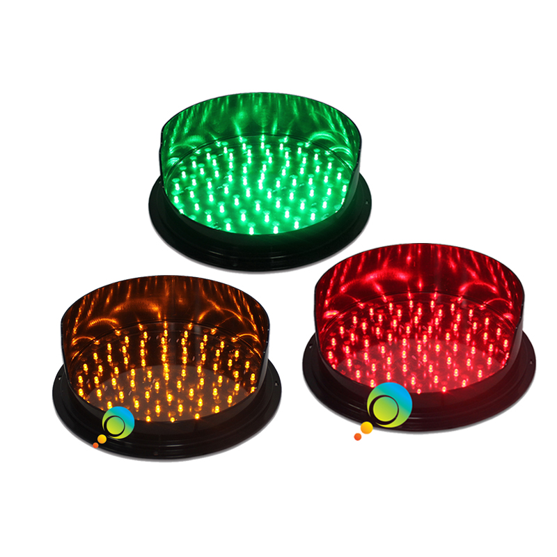 DC12V Customized 300mm  LED Traffic Light Module With Visor Red Yellow Green One Pack On Sale