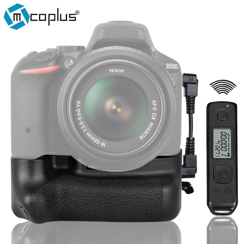 Mcoplus BG-DR5500 Vertical Battery Grip for Nikon DSLR Camera D5500 with 2.4G LCD Display Wireless Remote Control as EN-EL14a vertical battery grip for nikon d5500 dslr camera bg 2t