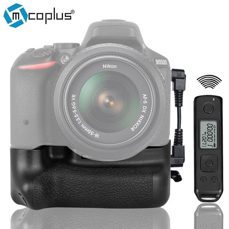 bilder für Mcoplus bg-dr5500 vertikale batteriegriff für nikon dslr kamera d5500 mit 2,4g lcd-display drahtlose fernbedienung als en-el14a