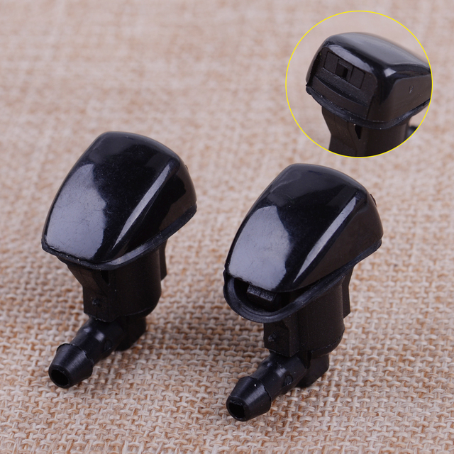 CITALL 2Pcs Front Windshield Wiper Nozzle Washer Jet Fit for Toyota 4Runner Corolla Tacoma 2005 2006 2007 2008-2011 Sienna 2006