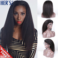 Yaki Staight Lace Front Wigs Full Lace Human Hair Wigs Light Yaki Virgin Hair Glueless Lace Front Human Hair Wigs Yaki Lace Wigs